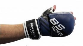 Фото 2 к товару Перчатки для смешанных единоборств 7 oz Fighter blue