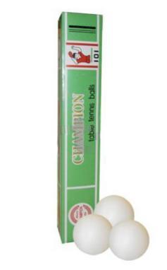 Набор мячей для настольного тенниса Champion (6 шт)