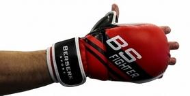 Фото 2 к товару Перчатки для смешанных единоборств 7 oz Fighter red