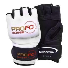 Фото 1 к товару Перчатки для смешанных единоборств 4 oz ProFC white