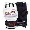 Перчатки для смешанных единоборств 4 oz ProFC white - фото 1