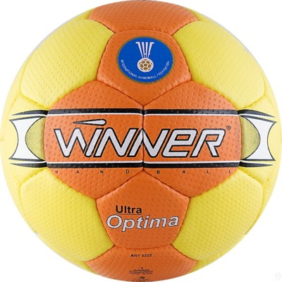Мяч гандбольный профессиональный Winner Optima IHF Approved оранжевый
