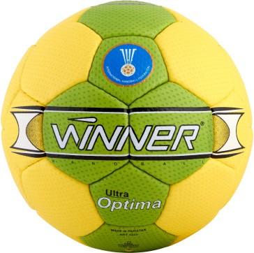 Мяч гандбольный профессиональный Winner Optima IHF Approved зеленый