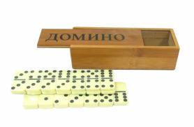 Домино в бамбуковом футляре IG-5008