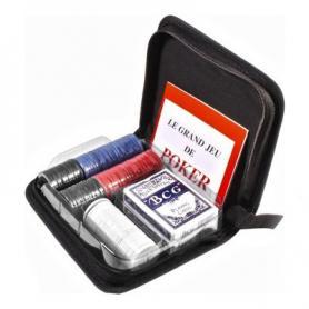 Фото 1 к товару Набор для игры в покер в тканевом кейсе Duke (200 фишек и 2 колоды карт)