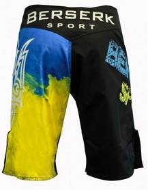 Фото 4 к товару Шорты для MMA Berserk Ukraine Fighter black
