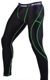 Штаны компрессионные с ракушкой Berserk Legacy green neon black