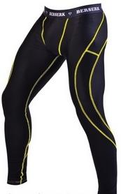 Штаны компрессионные с ракушкой Berserk Legacy yellow neon black