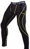 Штаны компрессионные с ракушкой Berserk Legacy yellow neon black - фото 1