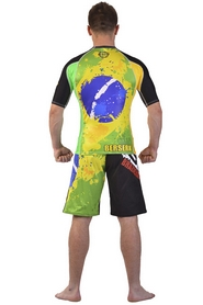 Фото 6 к товару Рашгард Berserk Premier BJJ green/yellow