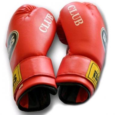 Перчатки боксерские PVC World Sport club красные