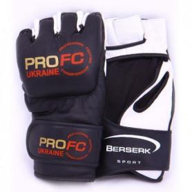 Фото 1 к товару Перчатки для смешанных единоборств 4 oz ProFC black