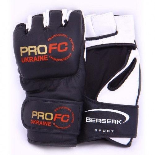 Перчатки для смешанных единоборств 4 oz ProFC black - фото 1