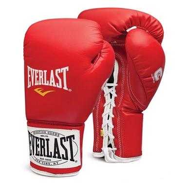 Перчатки боксерские (профессиональные) Everlast 1910 Pro Fight красные
