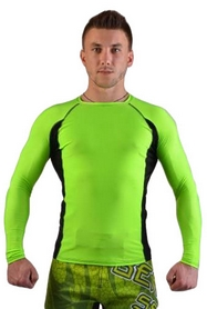 Рашгард для MMA Berserk Long Sleeve Hyper Neon green