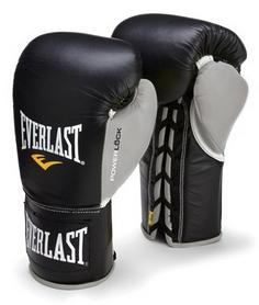 Фото 1 к товару Перчатки боксерские (профессиональные) Everlast Powerlock Pro Fight Boxing Gloves серебристые