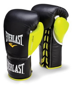 Фото 1 к товару Перчатки боксерские (профессиональные) Everlast Powerlock Pro Fight Boxing Gloves зеленые