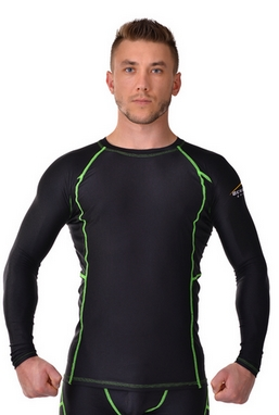 Рашгард для MMA Berserk Legacy Long Sleeve black/green