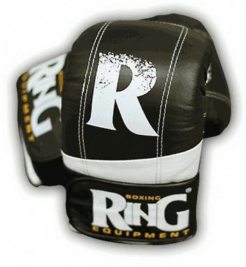 Перчатки снарядные Ring Proff-Line Leather черные с белым