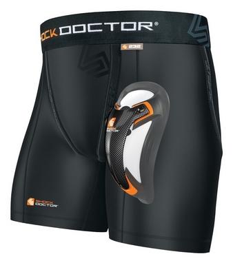 Компресc-шорты Shock Doctor Boxer Short с ракушкой из карбона