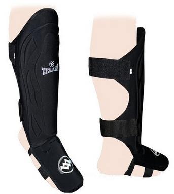 Защита для ног (голень+стопа) ZLT ZK-4215 черная
