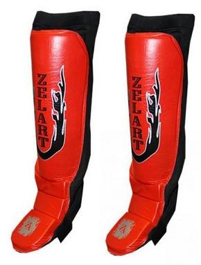 Защита для ног (голень+стопа) ZLT ZB-7024-R красная