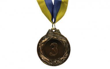 Медаль спортивная 2 место (серебро) 3639-3, 45 мм