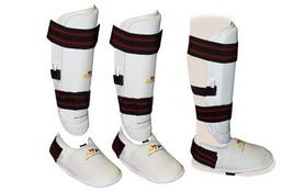 Фото 1 к товару Защита для ног (голень+стопа) разбирающаяся ZLT BO-4080-W белая