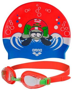 Набор для плавания Arena AWT Multi Set Red-Green