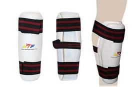 Распродажа*! Защита для ног (голень) тхэквондо ZLT BO-4081-W белая - S