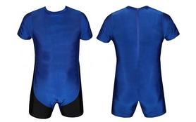 Трико борцовское, тяжелоатлетлетическое мужское Combat Budo CO-0716-BL синее