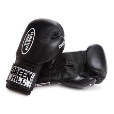 Перчатки боксерские Green Hill Zees (черные)