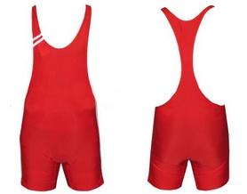Трико борцовское, тяжелоатлетлетическое мужское Combat Budo CO-3045-R красное