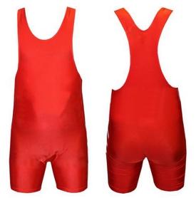Трико борцовское, тяжелоатлетлетическое подростковое Combat Budo CO-238-R красное