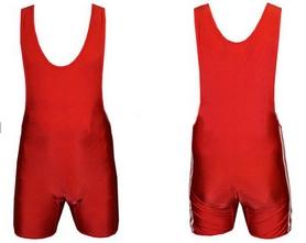 Трико борцовское, тяжелоатлетлетическое мужское Combat Budo CO-3536-R красное