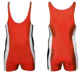 Трико борцовское, тяжелоатлетлетическое мужское Combat Budo RG-4262-R красное