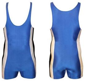 Трико борцовское, тяжелоатлетлетическое мужское Combat Budo RG-4262-B синее