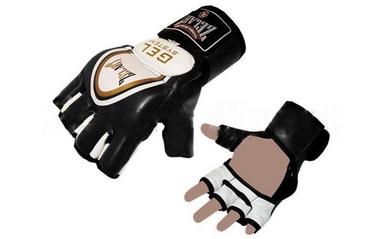 Перчатки для смешанных единоборств MMA ZLT ZB-6104-BK черные