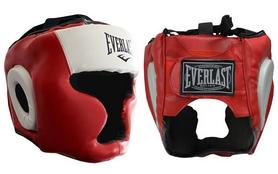 Шлем боксерский с полной защитой Everlast VL-8207-R красный