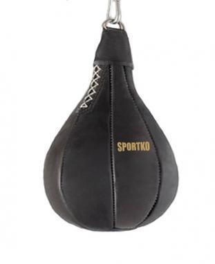 Груша боксерская набивная Sportko GK-1 (Кожа) 40х24 см