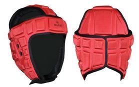 Распродажа*! Шлем для тхэквондо ZLT MA-4539-R красный - размер L (56-58 см)