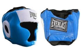 Фото 1 к товару Шлем боксерский с полной защитой Everlast VL-8107-B синий