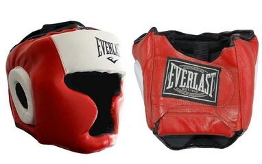 Шлем боксерский с полной защитой Everlast VL-8107-R красный