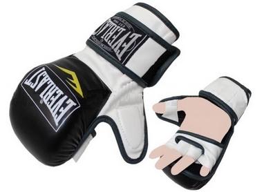 Перчатки для смешанных единоборств MMA Everlast BO-4612-BKW черно-белые