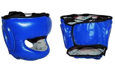 Шлем боксерский с бампером Velo VL-8128-B синий