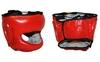 Шлем боксерский с бампером Velo VL-8128-R красный - фото 1