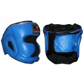 Шлем боксерский с полной защитой ZLT ZB-5007-B синий - M
