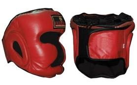 Шлем боксерский с полной защитой ZLT ZB-5007-R красный