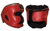 Шлем боксерский с полной защитой ZLT ZB-5007-R красный - фото 1