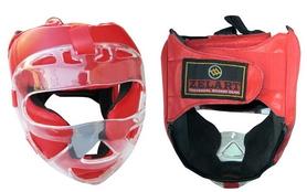 Фото 1 к товару Шлем для единоборств ZLT ZA-01027-R красный